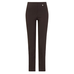 Robell Trousers Bella Full Length Trousers in Chocolate