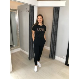 Lucy Cobb Lia Love T Shirt - Black
