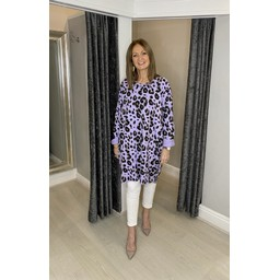 Lucy Cobb Lacee Leopard Tunic  - Lilac