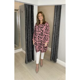 Lucy Cobb Lacee Leopard Tunic  - Pink (431)