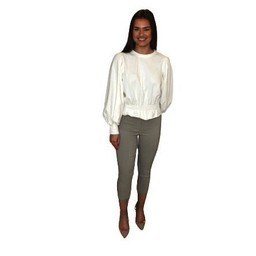 Robell Trousers Rose 07 Capri Trousers - Light Taupe