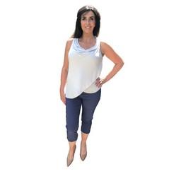 Robell Trousers Rose 07 Capri Trousers in Denim Blue