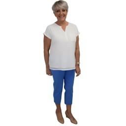 Robell Trousers Marie 07 Capri Trousers in Azure Blue