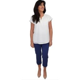 Robell Trousers Marie 07 Capri Trousers in Denim Blue