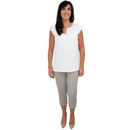 Robell Trousers Marie 07 Capri Trousers in Light Taupe
