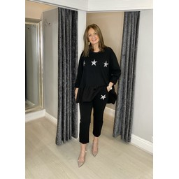 Lucy Cobb Dora Diamante Star Tracksuit  in Black