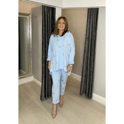 Lucy Cobb Carina Star Tracksuit - Baby Blue