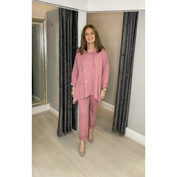 Lucy Cobb Carina Star Tracksuit in Rose