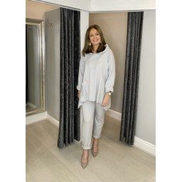Lucy Cobb Carina Star Tracksuit - Silver Grey