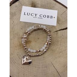 Lucy Cobb Jewellery Harper Heart Bracelet in Rose Gold