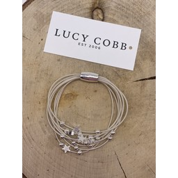 Lucy Cobb Jewellery Layered Star Bracelet in Silver