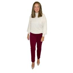 Robell Trousers Bella Petite Needle Cord Trousers  - Aubergine