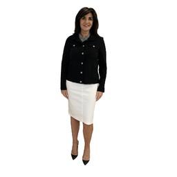 Robell Trousers Maraike Denim Skirt in White