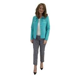 Robell Trousers Happy Jacket in Aqua Green