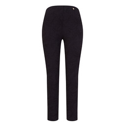 Robell Trousers Rose 09 Jacquard Trousers in Black