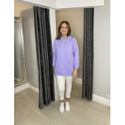Lucy Cobb Follow Your Heart Hoodie in Lilac