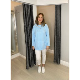 Lucy Cobb Follow Your Heart Hoodie - Pale Blue (611)