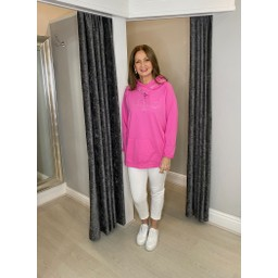 Lucy Cobb Follow Your Heart Hoodie in Fuchsia