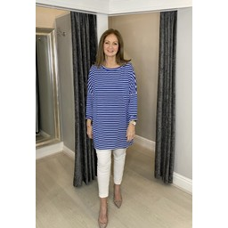 Lucy Cobb Sami Striped Tunic in Royal