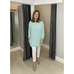 Lucy Cobb Sami Striped Tunic in Mint