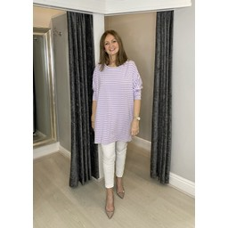 Lucy Cobb Sami Striped Tunic in Lilac