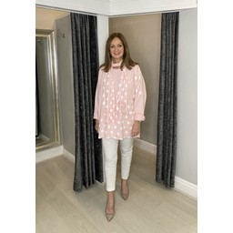 Lucy Cobb Poppie Polka Dot Top in Pink (431)