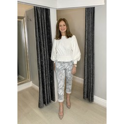 Lucy Cobb Topaz Magic Joggers in Silver Grey