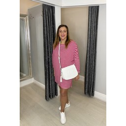 Lucy Cobb Sami Striped Tunic in Fuchsia