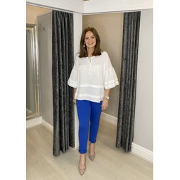 Lucy Cobb Tie Waist Joggers in Royal