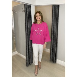 Lucy Cobb Sigma Star Top - Fuchsia