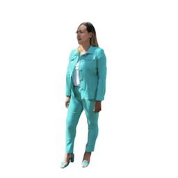 Robell Trousers Rose 09 7/8 Trousers - Aqua Green