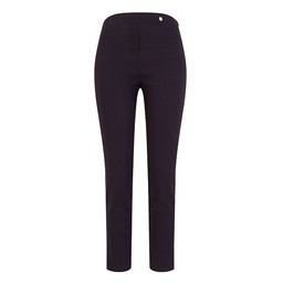 Robell Trousers Rose 09 Jacquard Trousers in Navy