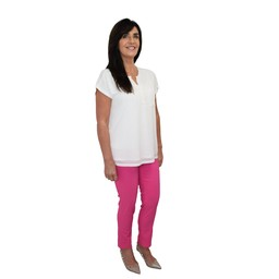 Robell Trousers Rose 09 7/8 Trousers - Pink