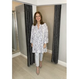 Lucy Cobb Tulum Tunic in Silver Grey
