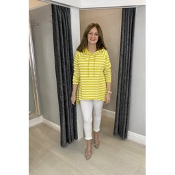 Lucy Cobb Riley Striped Hoodie - Yellow
