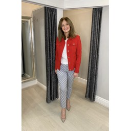 Robell Trousers Seersucker Happy Jacket - Red