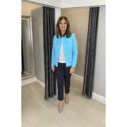 Robell Trousers Seersucker Happy Jacket - Turquoise