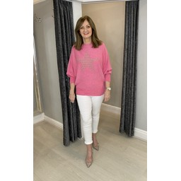 Lucy Cobb Erin Stud Star Jumper in Pink