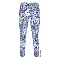 Robell Trousers Bella 09 Animal Print - Light Blue