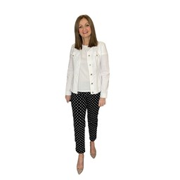 Robell Trousers Bella 09 Spot Trousers - Black