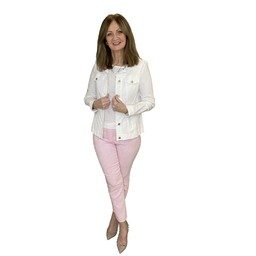 Robell Trousers Rose 09 Diamond Check Trousers in Pink