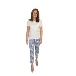 Robell Trousers Bella 09 Animal Print - Light Blue