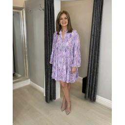 Lucy Cobb Laurel Leaf Smock Dress - Lilac