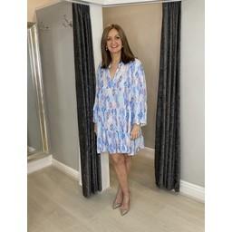 Lucy Cobb Laurel Leaf Smock Dress in Baby Blue