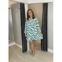 Lucy Cobb Zina Zebra Tunic in Soft Green
