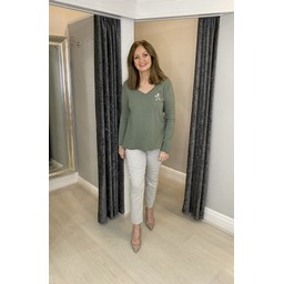 Lucy Cobb Luna Star Long sleeve Tee in Khaki