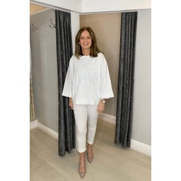Lucy Cobb Sigma Star Top in White
