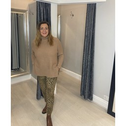 Lucy Cobb Magic Joggers - Leopard in Camel