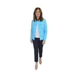 Robell Trousers Seersucker Happy Jacket in Turquoise