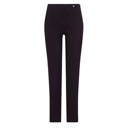 Robell Trousers Marie Ultra Thin Fleece Lined Trousers in Navy